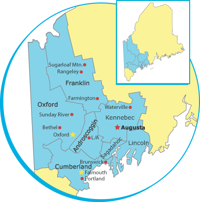 ServiceMaster Maine - a map of ServiceMaster's service areas