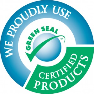 Green cleaning seal.