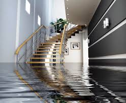 freeport water damage - an office building with several feet of water on the ground floor